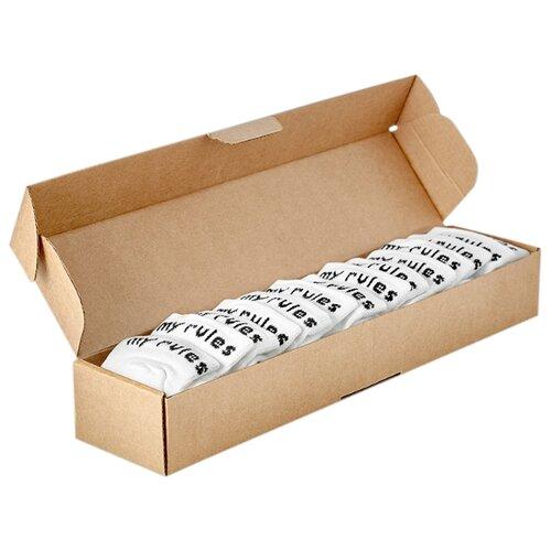 Носки My Rules средней длины, в коробке, 7 пар, размер 36-40, белый носки my rules средней длины размер 36 40 черный