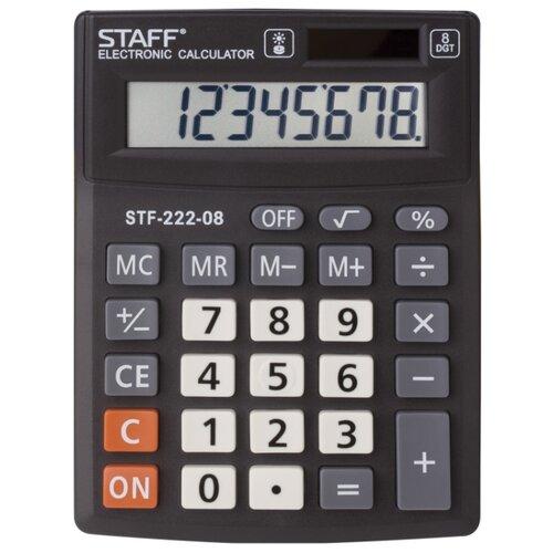 Калькулятор настольный STAFF STF-222-08 черный