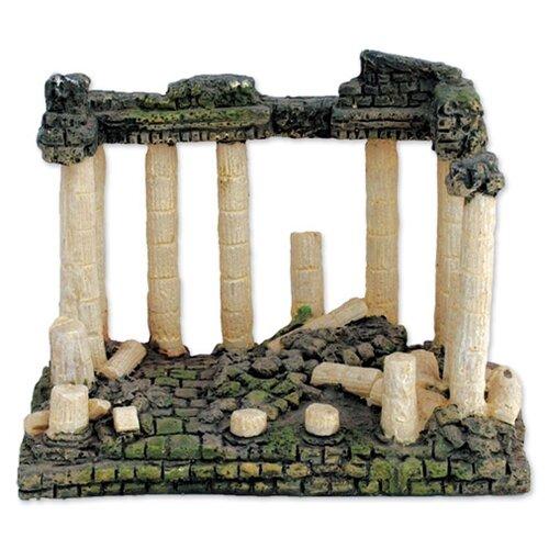 Фигурка для аквариума Triol Римские развалины 15х10х11.5 см зеленый/бежевый/серый