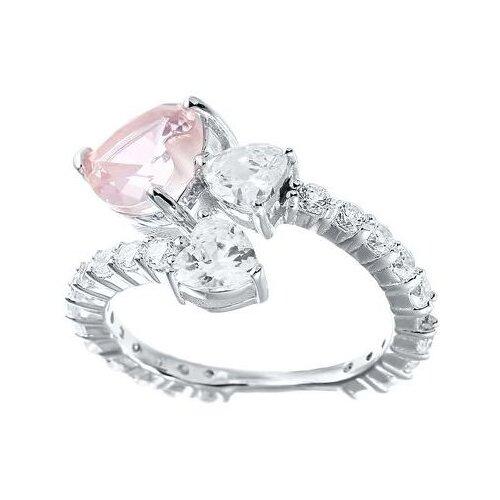 Фото - JV Кольцо с фианитами из серебра SR-B02455C2-KO-001-WG, размер 17 jv кольцо с фианитами из серебра sr b02197c ko 001 wg размер 17 5