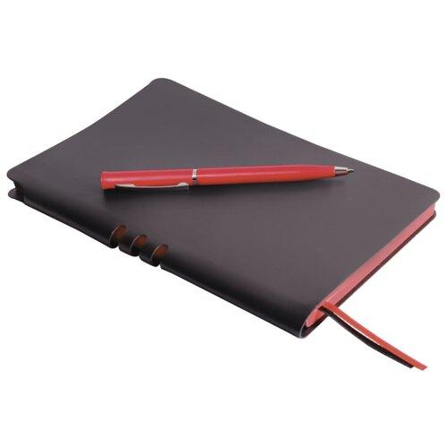 Купить Канцелярский набор BRAUBERG Nebraska A5, 2 пр., черный/красный, Офисные наборы