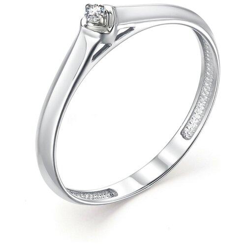 АЛЬКОР Кольцо с 1 бриллиантом из белого золота 13229-200, размер 17 алькор кольцо с 1 бриллиантом из белого золота 13299 200 размер 17