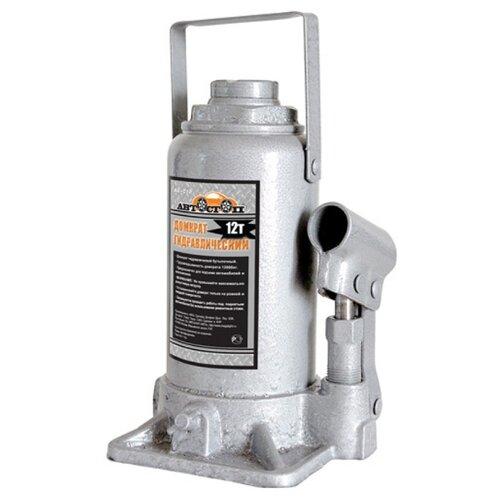 Домкрат бутылочный гидравлический Автостоп AJ-012 (12 т) серый домкрат бутылочный гидравлический автостоп aj 016 16 т серый