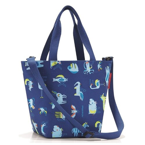 Сумка reisenthel Shopper XS ABC friends IK3066/IK4066, текстиль сумка детская reisenthel allrounder xs abc friends blue iq4066