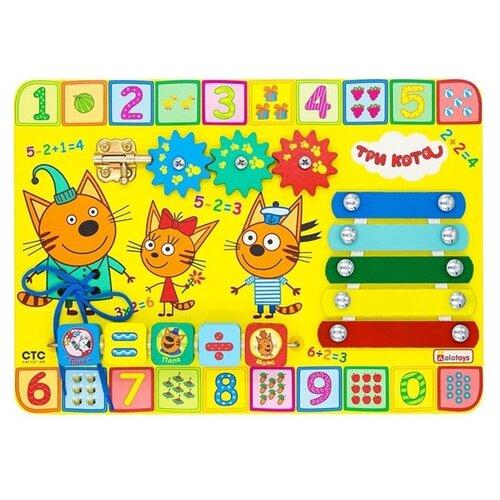 Фото - Бизиборд Aalatoys Три кота Учим цифры разноцветный бизиборд alatoys три кота учим цифры разноцветный