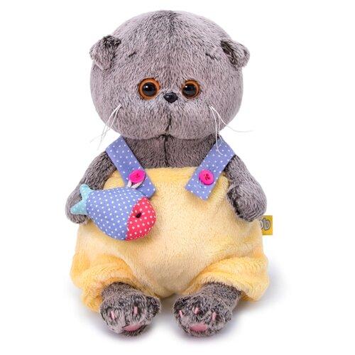 Купить Мягкая игрушка Basik&Co Кот Басик baby в меховом комбинезоне 20 см, Мягкие игрушки