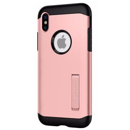 Чехол Spigen Slim Armor для Apple iPhone X (057CS22139) rose goldЧехлы<br>