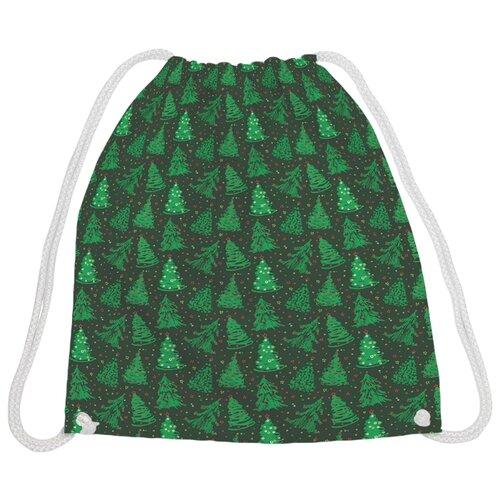 Купить JoyArty Рюкзак-мешок Танец елок (bpa_185483V1) зеленый, Мешки для обуви и формы