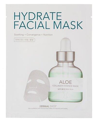 DERMAL Shop Hydrate Facial Mask коллагеновая маска с экстрактом алоэ