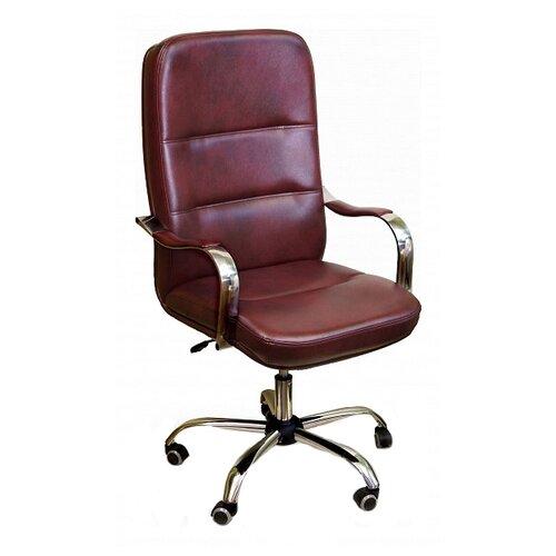 Компьютерное кресло Креслов Пилот КВ-09-130112, обивка: искусственная кожа, цвет: бордовый кресло компьютерное креслов орман кв 08 130112 0453