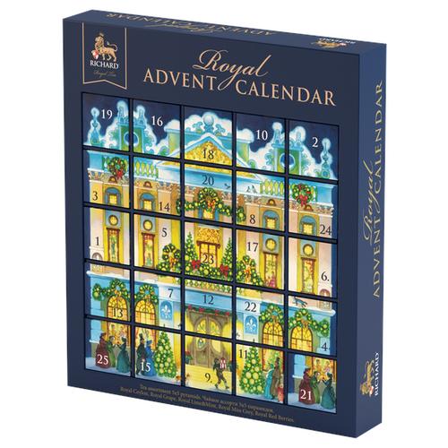 Чай Richard Royal Advent Calendar ассорти в пирамидках подарочный набор , 25 шт. чай листовой richard royal ceylon dogs