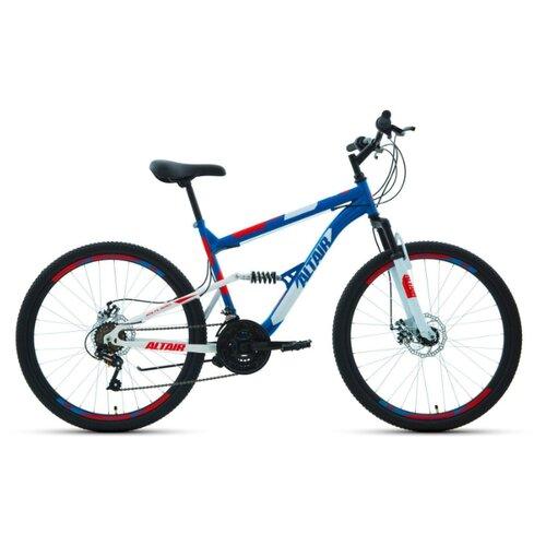 """Горный (MTB) велосипед ALTAIR MTB FS 26 2.0 Disc (2020) синий 18"""" (требует финальной сборки)"""