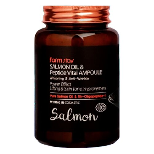 Купить Farmstay Salmon Oil & Peptide Vital Ampoule Сыворотка для лица с лососевым маслом и пептидами, 250 мл