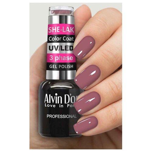 Фото - Гель-лак для ногтей Alvin D'or She-Lak Color Coat, 8 мл, оттенок 3540 гель лак для ногтей cosmoprofi color coat 15 мл оттенок 027