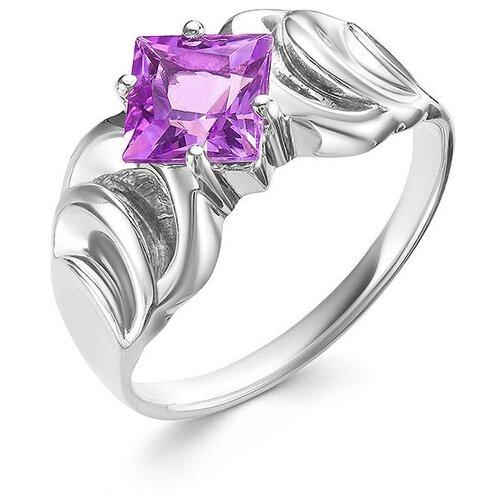 АЛЬКОР Кольцо с 1 аметистом из серебра 01-0552-00АМ-00, размер 17 алькор кольцо с 1 аметистом из серебра 01 0578 00ам 00 размер 17 5