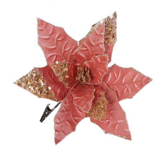 Елочная игрушка Magic Time 80491 розовый/золотистый