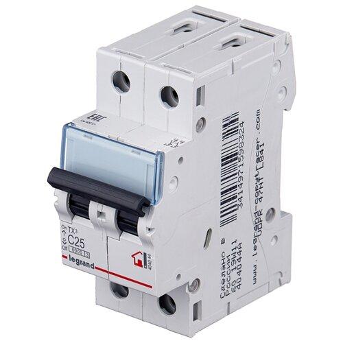 Автоматический выключатель Legrand TX3 2P (C) 6kA 25 А