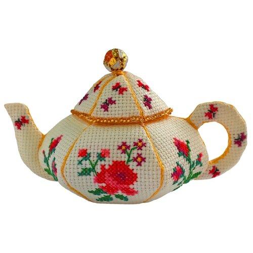 ZENGANA Набор для вышивания бисером и нитками Чайничек Розы 14 х 8 см (М-057)Наборы для вышивания<br>