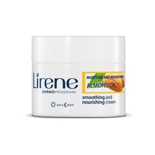 Lirene Увлажнение и питание Разглаживающее миндальное масло Питательный крем для лица, 50 мл миндальное косметическое масло для лица