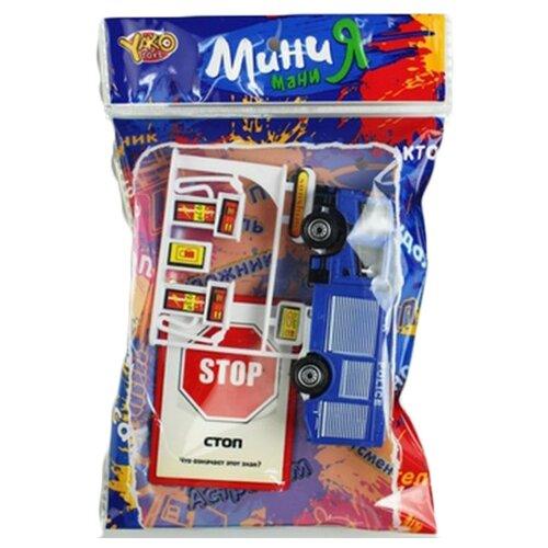 Купить Yako Мини Мания - Дорожное движение M7173 белый/синий/красный, Детские парковки и гаражи