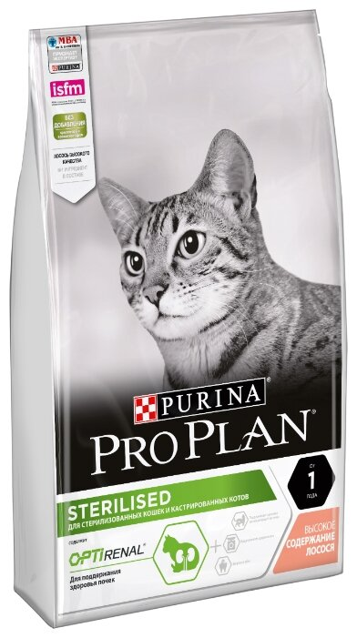 Корм для стерилизованных кошек Pro Plan Sterilised для профилактики МКБ, с лососем 7 кг — цены на Яндекс.Маркете