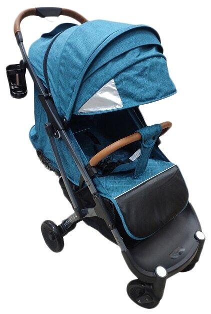 Прогулочная коляска Yoya Plus 4 2020 (дожд., москит., подстак., бампер, сумка-чехол, корзина д/покупок, ремешок на руку, накидка на ножки) Розовый black frame