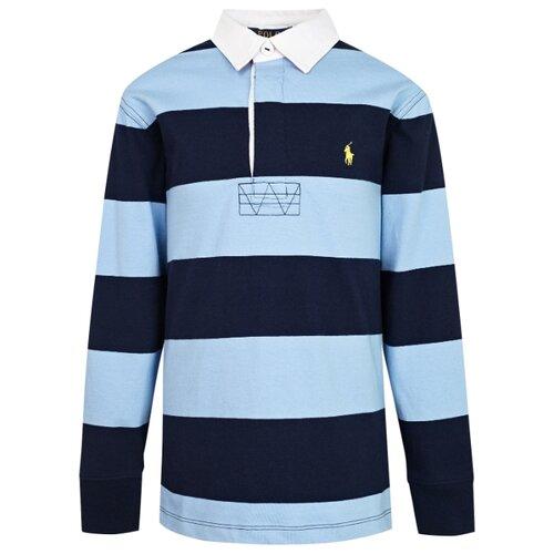 Купить Поло Ralph Lauren размер 122, голубой/синий, Футболки и майки