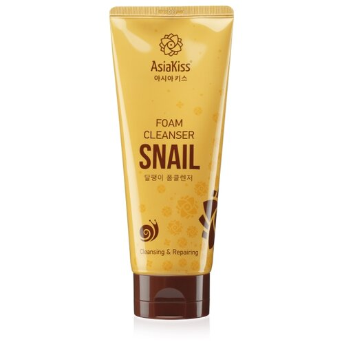Asiakiss пенка для умывания с улиточной слизью Snail Foam Cleanser, 180 мл гель для лица с улиточной слизью