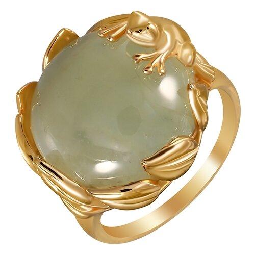ELEMENT47 Кольцо из серебра 925 пробы с пренитами SR1711_KO_PH_001_YG, размер 17.5