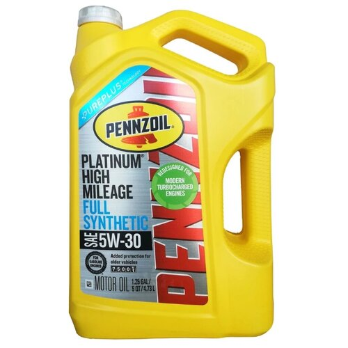 Фото - Моторное масло Pennzoil Platinum High Mileage Full Synthetic Motor Oil 5W-30 4.73 л моторное масло pennzoil gold synthetic blend sae 5w 30 0 946 л