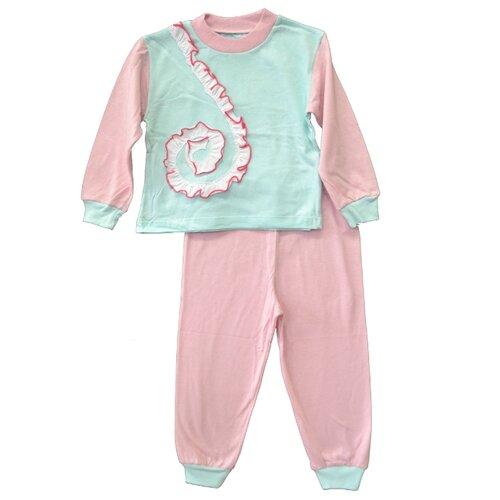 Пижама АЙАС размер 92/98, бирюзовый/розовый