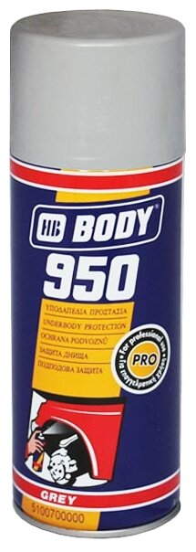 Жидкий антигравий HB BODY 950 серый 0.4 л баллончик