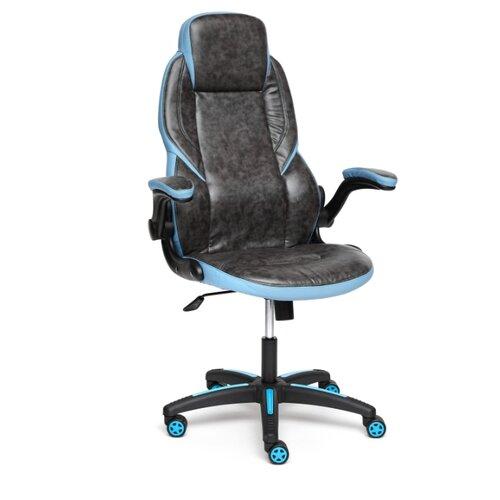 Компьютерное кресло TetChair Bazuka офисное, обивка: искусственная кожа, цвет: серый/голубой кресло офисное tetchair leader 207 серый