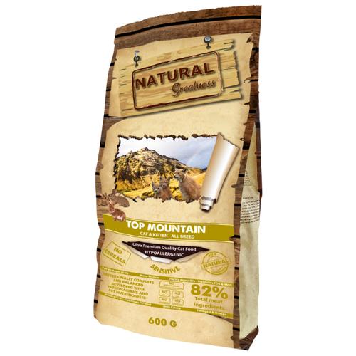 Корм для кошек NATURAL Greatness Top Mountain беззерновой, при чувствительном пищеварении 600 г greatness