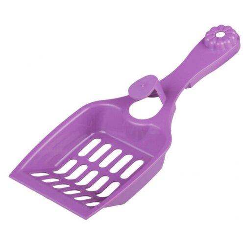 Совок для кошачьего туалета ZOO PLAST Феликс М6976 22.5 см фиолетовый