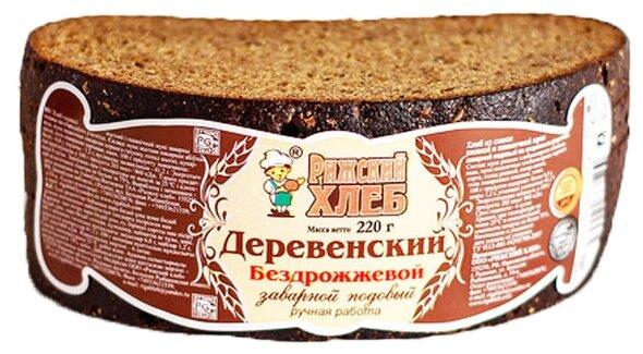 Рижский ХЛЕБ Деревенский заварной подовый ржано-пшеничный бездрожжевой в нарезке 220 г