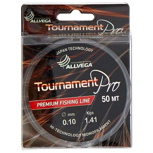 Монофильная леска ALLVEGA Tournament Pro прозрачный 0.1 мм 50 м 1.41 кг