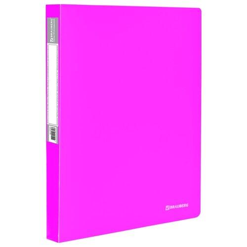 Купить BRAUBERG Папка-дисплей на 40 вкладышей Neon А4, 25 мм розовая, Файлы и папки