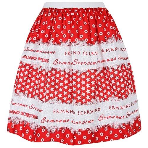 Купить Юбка Ermanno Scervino размер 164, красный/белый, Юбки