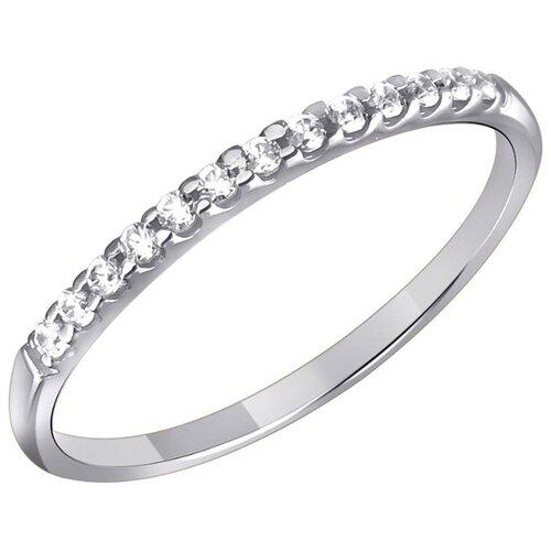 Эстет Кольцо с 19 фианитами из белого золота 01К1211780, размер 18 эстет кольцо с 19 фианитами из белого золота 01к2210883 1 размер 18
