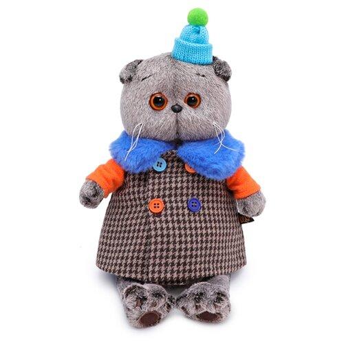 Купить Мягкая игрушка Basik&Co Кот Басик в комбинированном пальто 22 см, Мягкие игрушки