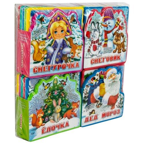 Омега Книжка EVA с пазлами. Подарочный набор книг для детей. Здравствуй, Новый год!