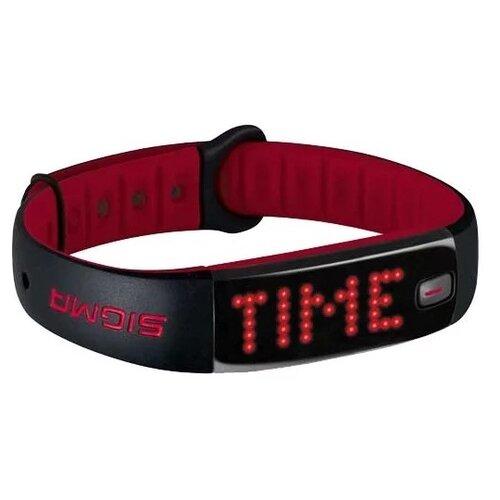 Умный браслет SIGMA Activo, черный / красный