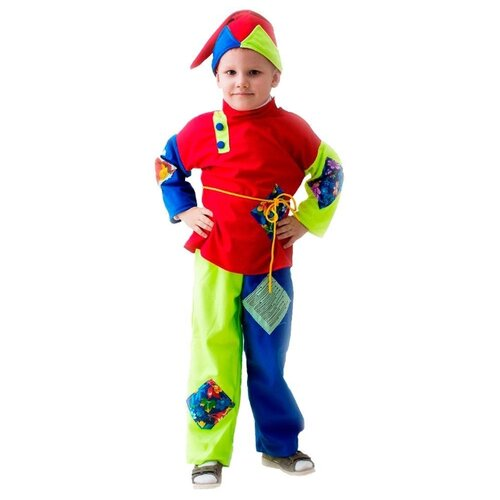 Купить Костюм Бока Скоморох, красный/синий/желтый, размер 122-134, Карнавальные костюмы