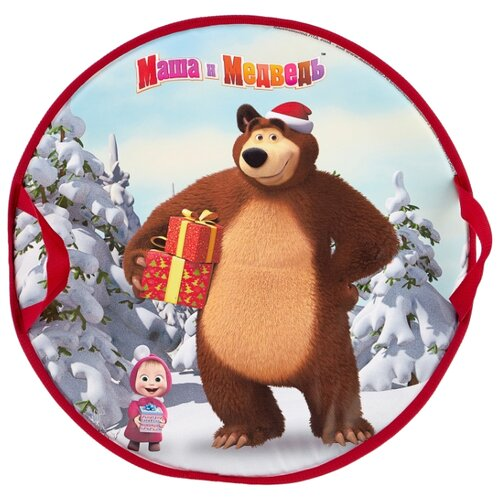 Ледянка 1 TOY Маша и Медведь (Т14008) белый/коричневый/красный