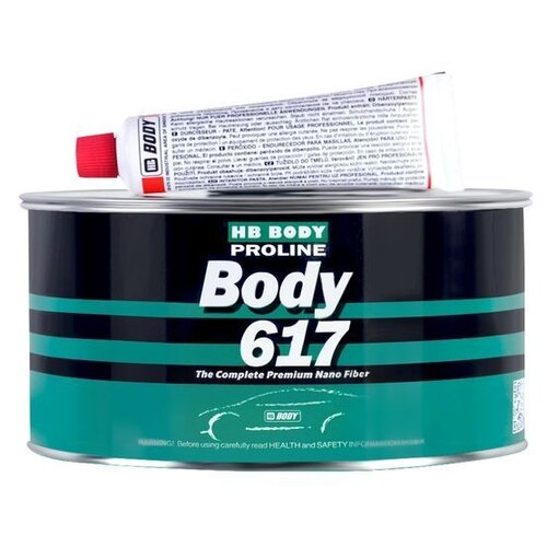 Комплект (шпатлевка, отвердитель) HB BODY Proline 617 0.5 кг