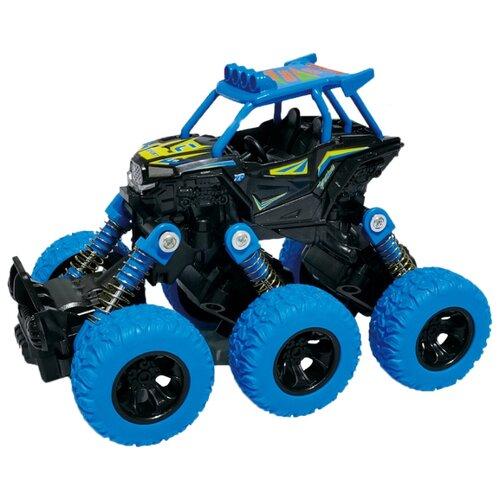 Багги die-cast, инерционный механизм, рессоры, 6*6, синий Funky toys FT61069