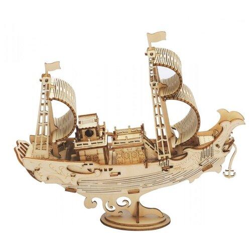 Купить 3D деревянный конструктор Robotime Японское дипломатическое судно, Сборные модели