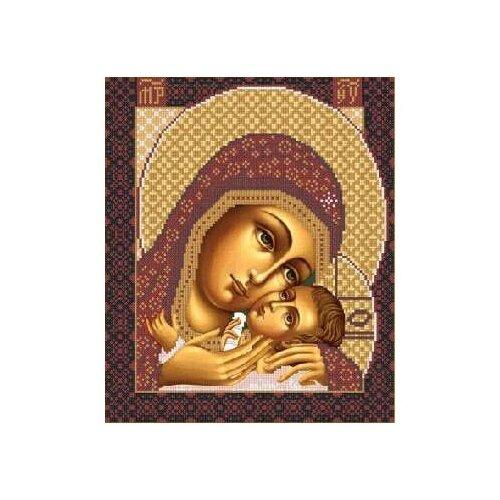 Купить Канва для вышивания с рисунком NOVA SLOBODA Богородица Корсунская БИС-1210, многоцветный 30 х 42 см