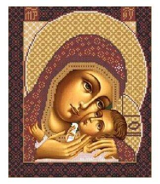 Канва для вышивания с рисунком NOVA SLOBODA Богородица Корсунская БИС-1210 30 х 42 см
